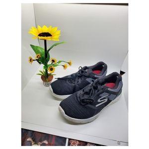Skechers Sneakers Shoes Ladies Black Gray 7 1/2